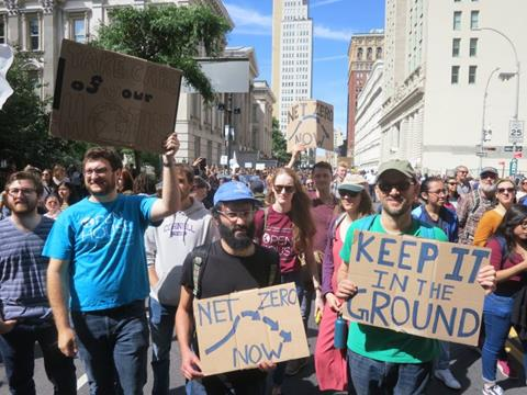 Scientists Stand with Students at Climate March