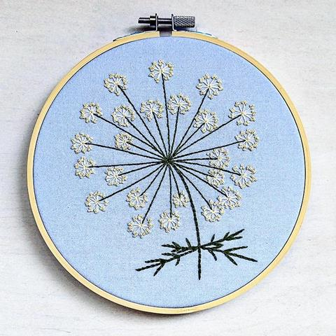 Queen Ann's Lace Emboroidery kit by cozyblue