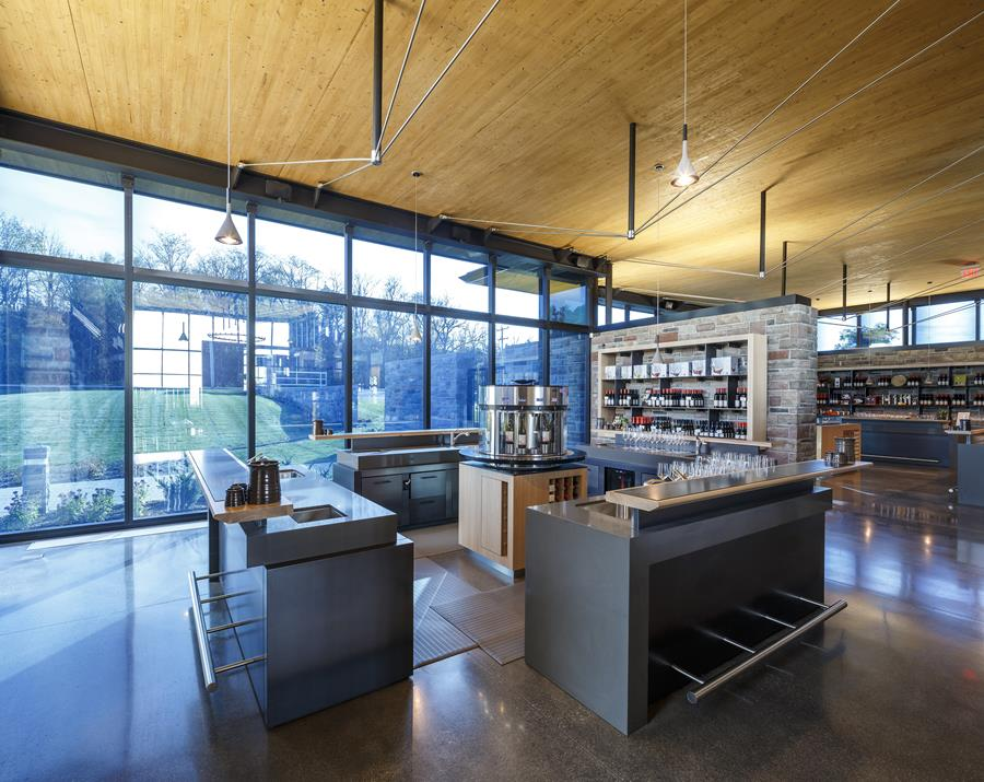 VIew of the Tasting Room and the Retail area beyond
