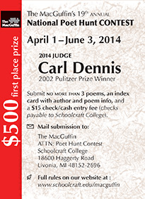 The MacGuffin's 19th Annual National Poet Hunt Contest