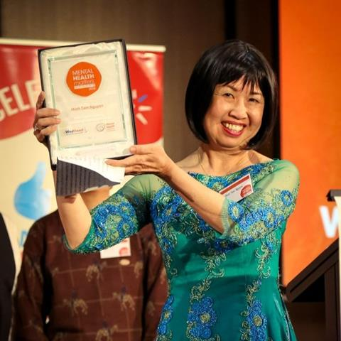 Minh Tam Nguyen at the Mental Health Matters Awards