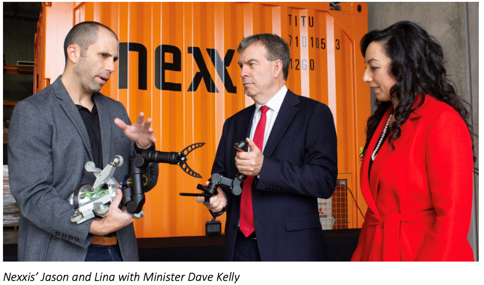 Nexxis' Jason and Lina receive award from Minister Dave Kelly