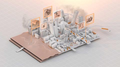 Folio story, synthetic cities graphic image