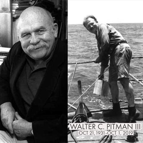 Walter Pitman with friend and colleague William Ryan in the Bosporus Strait circa 1997