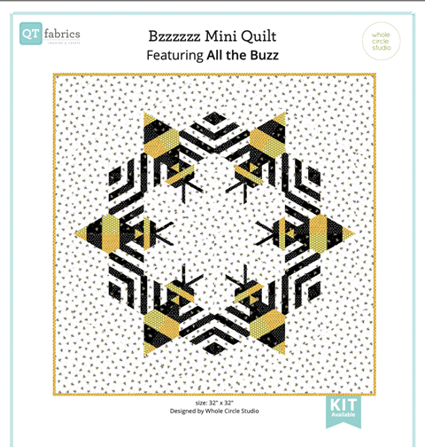 Bzzzzzz Mini Quilt at Cary Quilting