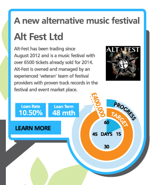 A new alternative music festival - Alt Fest Ltd - Alt-Fest has been trading since August 2012 and is a music festival with over 6500 tickets already sold for 2014. Alt-Fest is owned and managed by an experienced 'veteran' team of festival providers with proven track records in the festival and event market place.