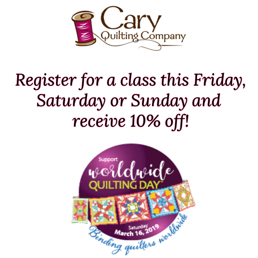 Classes at Cary Quilting Company