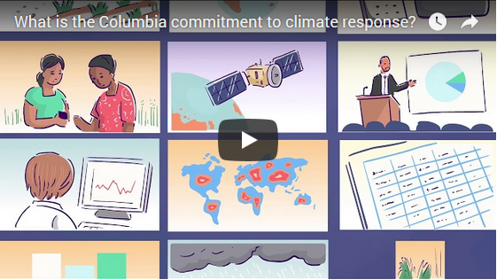 What is the Columbia commitment to climate response?