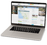 An open laptop with the PlanH.ca website displayed on the screen