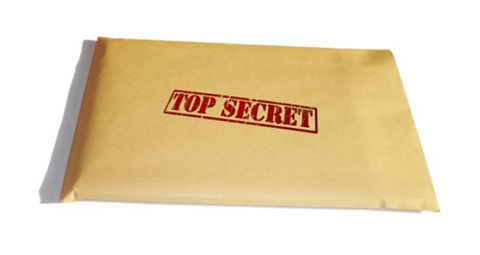 "Envelope with ""Top Secret"" stamped on it"