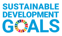 "This is the logo for the United Nation's Sustainable Development Goals. The text is in blue and the ""O"" in goals is divided into 17 different colours which represent the 17 sustainable development goals."