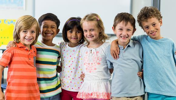 Children together at kindergarten