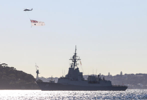 HMAS Hobart entering Port Jackson. Navantia and BIW will be submitting a design for the US FFG(X) based on Navantia's recent builds, including Australia's guided missile destroyers. Credit: Defence
