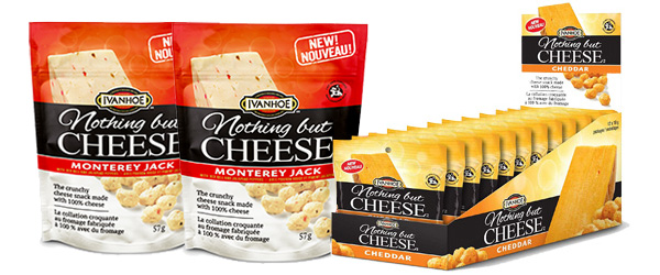 Photo of packs of Nothing But Cheese in two flavours.