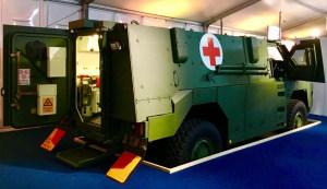 An ambulance version of the Bushmaster MR6 PMV on display at IAV 2018. Credit: Thales Group