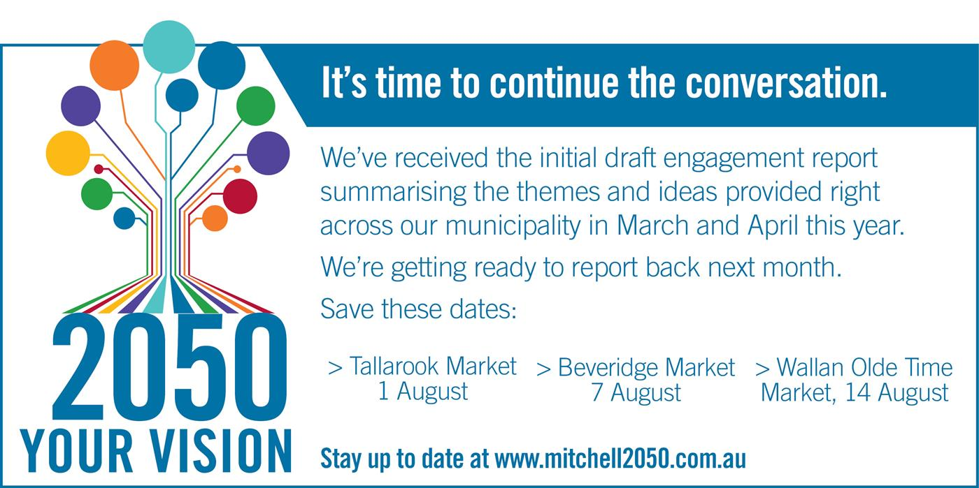 Community Vision. Stay up to date at www.mitchell2050.com.au