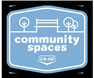 The Community Spaces Funding Program logo.