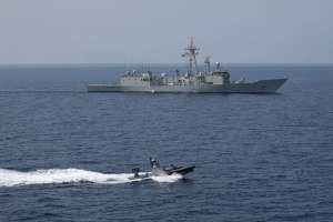 The USV successfully defended a NATO ship against a swarm attack. Rafael