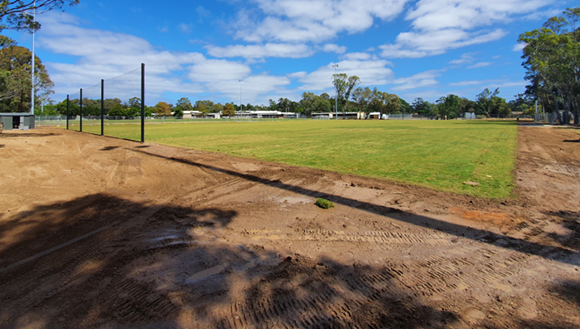 New grass at Broadford Sporting Precinct.