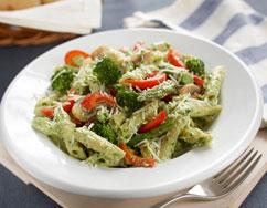 Picture of Creamy Arugula Pesto Pasta Primavera