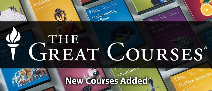 This is a header with text stating The Great Courses.