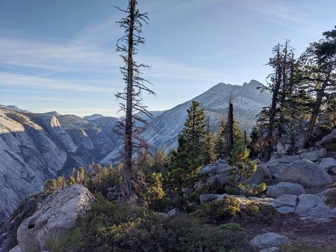 A beautiful landscape shot of Clouds Rest and Tenaya Canyon, taken during a 2019 outdoor adventure to Half Dome.