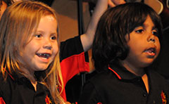 A photo of the Mt Druitt Indigenous Children's Choir