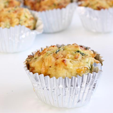 Zucchini and Corn Savoury Muffins