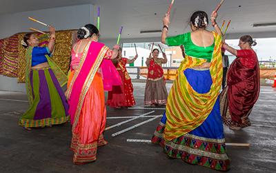 Performers at Diwali