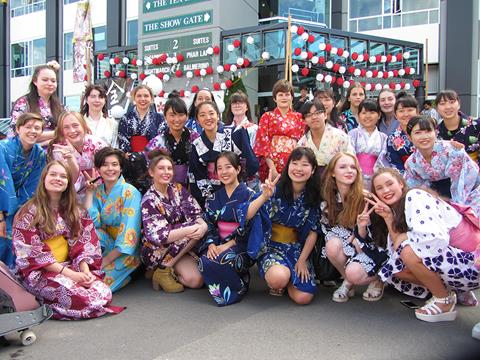 Avonside Girls performers at the Japan Day celebrations