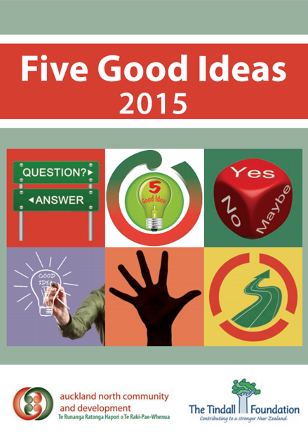 Cover of Five Good Ideas booklet