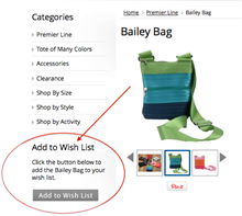 New! Wish List Website Feature