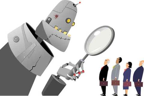 Using robots to hire staff