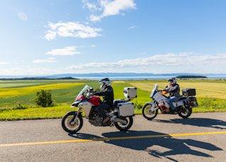 Moto au Bas-Saint-Laurent