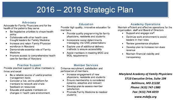 2016 - 2019 Strategic Plan