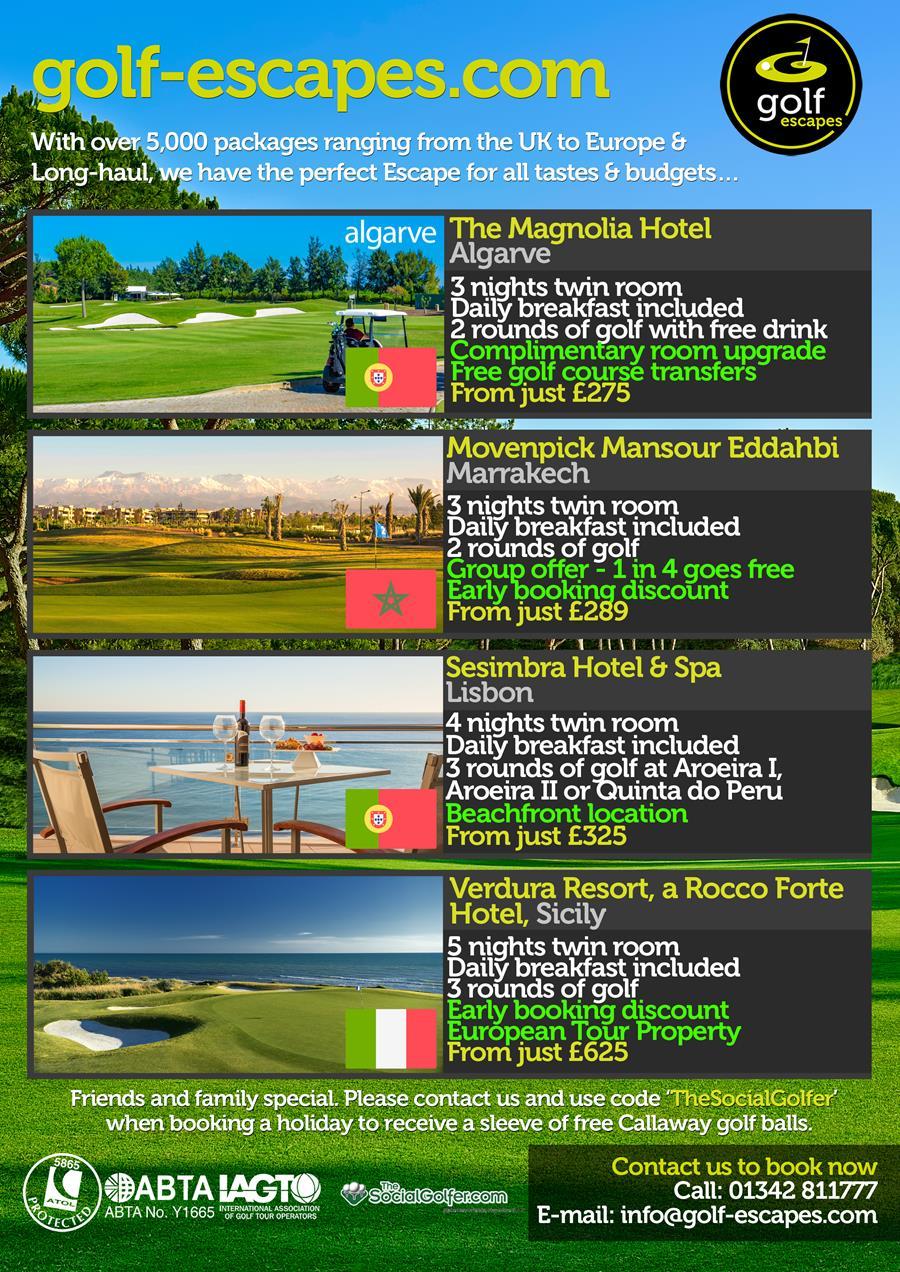 golf escapes
