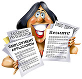 Photo of person holding a resume and application THPRD job opening