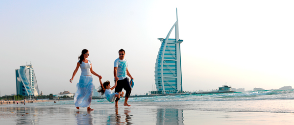 Family on Dubai Beach