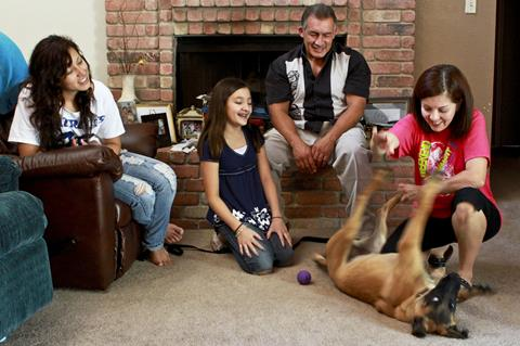 foster carers at home