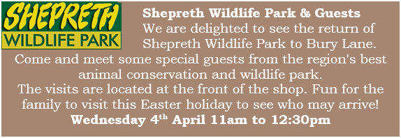 Bury Lane Farm Shop Shepreth Wildlife Park Visit Wednesday 4th April 2018