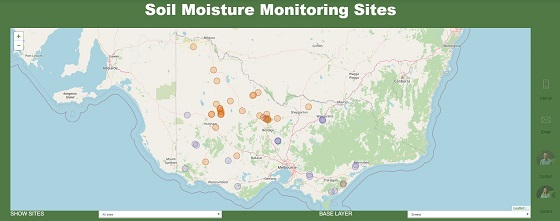 soil moisture monitoring website home page