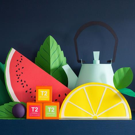 Helen Musselwhite's paper installation for T2 features teaware from around the world