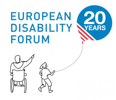 EDF 20 years logo