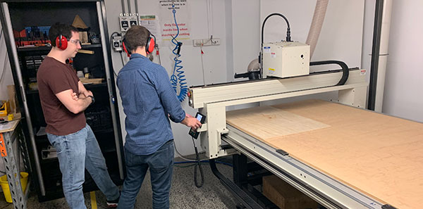 Using the CNC router at The Edge