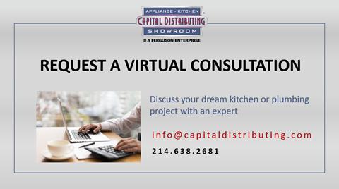 Kitchen Appliances   Request a Virtual Consultation   Open To Public   Capital Distributing Showroom Dallas TX