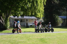 kids riding karts