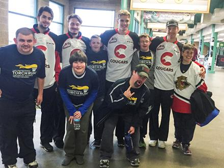 Special Olympics BC – Prince George athletes teamed up with Prince George Cougars players for the LETR Skate