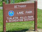 Bethany Lake Park sign THPRD