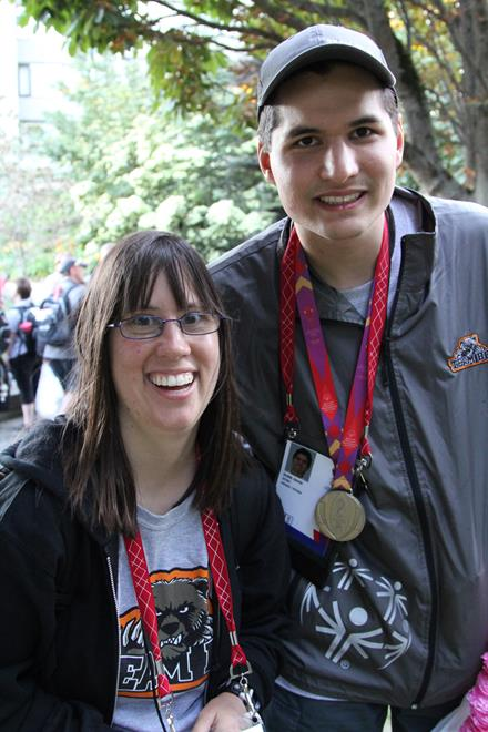 Special Olympics BC swimmers David Dunn and Kerri Denninger