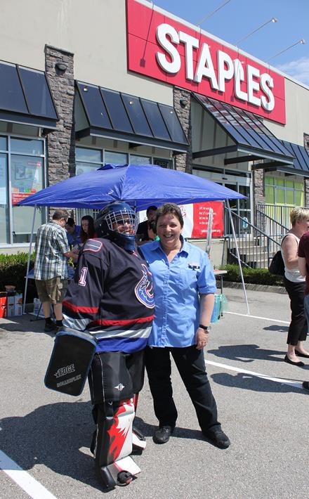SOBC - Vancouver athlete Nellie-Jo and Staples Grandview manager Carol